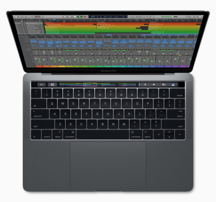 Logic Pro X users can now customize their controls with the Touch Bar on MacBook Pro.