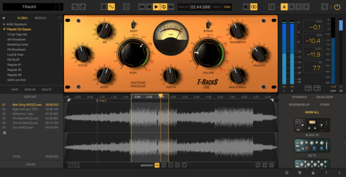 IK Multimedia Announces T-RackS 5: master your music to