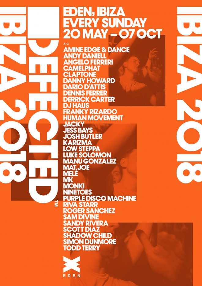 Defected Announces First Wave of Acts For Sunday Sessions At